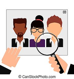 human resources design, vector illustration eps10 graphic