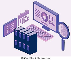 Human Resources employee database vector