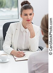 Human resources employee - Image of attractive female human...