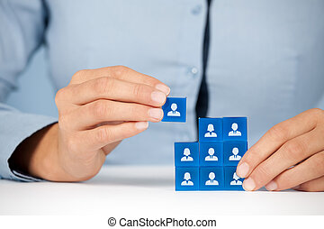 Human resources HR - Human resources, social networking,...