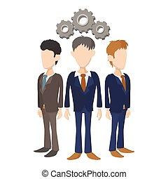 Human resources icon, cartoon style