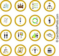 Human resources icon circle