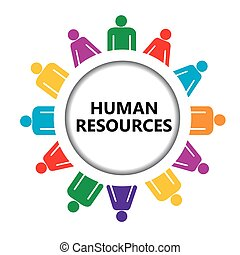 Human resources icon with group of people
