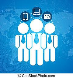 human resources over blue background vector illustration