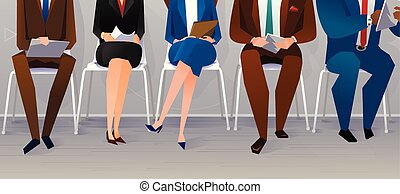 Human resources interview recruitment. Job concept. People ...