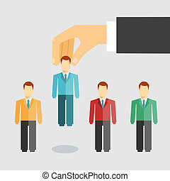 Human resources management concept - Vector illustration...
