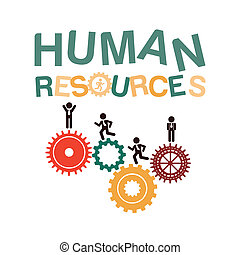 human resources over background vector illustration