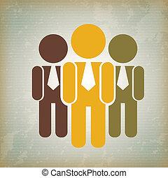 human resources over vintage background vector illustration