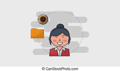 human resources people - businesswoman portrait briefcase...