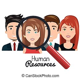 human resources people choose flat design