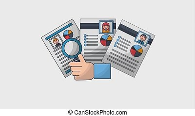 human resources people - hand holding magnifying glass human...