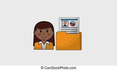 human resources people - woman human resourcews folder...