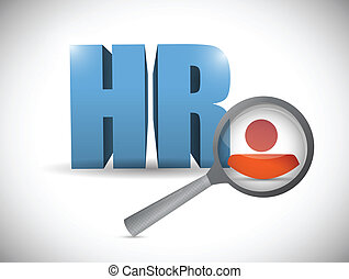 human resources review illustration design over a white background