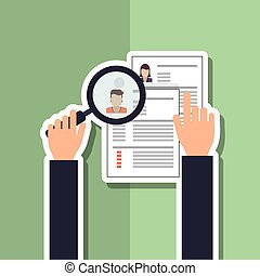 Human resources search design, vector illustration