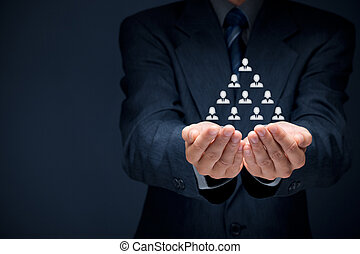 Human resources, corporate hierarchy and multilevel...