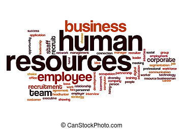 Human resources word cloud concept