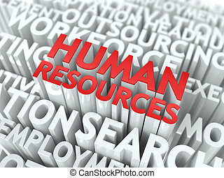 Human Resources. Wordcloud Concept.