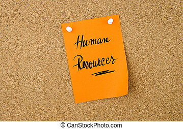 Human Resources written on paper note