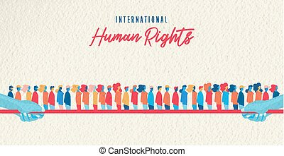 Human Rights awareness month united people - International...