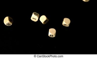 Human rights dice falling together