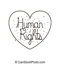 human rights isolated icon vector illustration design
