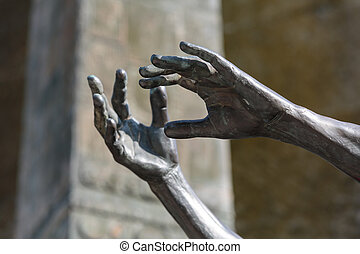 Human Rights Monument in Paris, France, near the Eiffel...