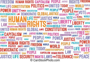 Human Rights Word Cloud Concept Vector Illustration