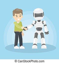human., roboter
