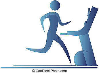 human running on a tread mill