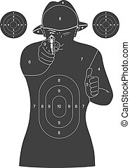 Human silhouette target - Illustration of a black human ...
