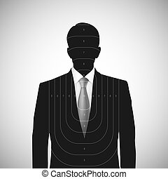 Human silhouette target . Unknown person - Human silhouette...
