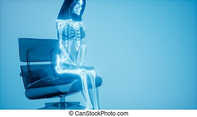 Human Skeleton Radiography Scan - human skeleton radiography...