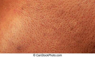 Human Skin Analysis - Close up of Human Skin Texture