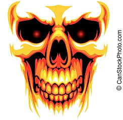human skull background