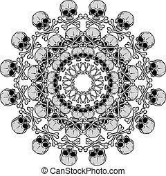 Human Skull circular pattern
