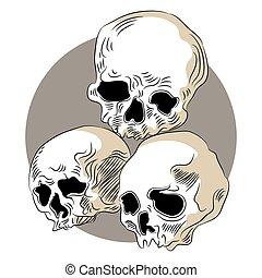 Human Skulls Icon