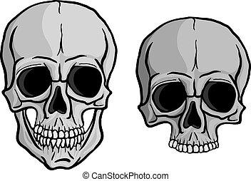 Human Skulls vector set