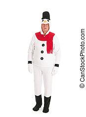Human snowman
