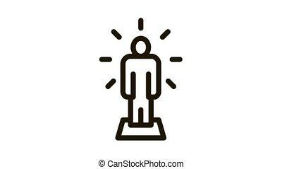 Human Sparkle Icon Animation. black Human Sparkle animated icon on white background