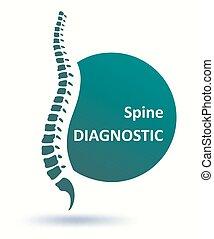 Human spine backbone logo template