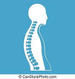 Human spine icon white
