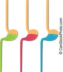 Human stomach three colors
