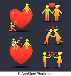 Human Symbol Love Story Concept - Love, Valentines, Marry...