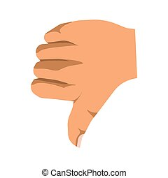 Human thumb down sign of nonverbal communication mean - ...