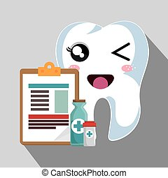 human tooth cartoon