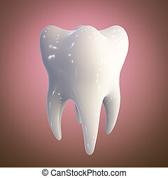Human tooth, illustration