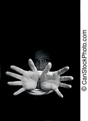 Human trafficking - Concept Photo - Missing kidnapped, ...