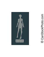human trafficking relative image - Bar code woman...