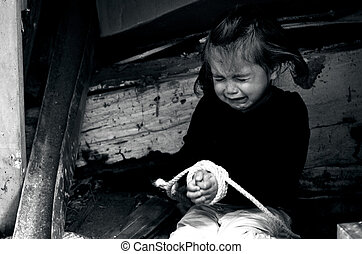 human, traficar, de, crianças, -, conceito, foto