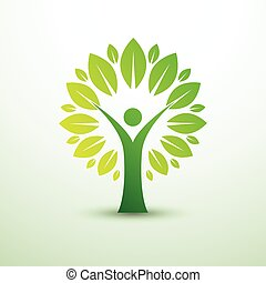 human tree - trees in the form of human green creative idea...